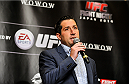 TOKYO, JAPAN - SEPTEMBER 17:   Joe Carr, Vice President, International Business Development at UFC interacts with media during the UFC Ultimate Media Day at the Hilton Tokyo on September 17, 2014 in Tokyo, Japan.  (Photo by Keith Tsuji/Zuffa LLC/Zuffa LLC via Getty Images)