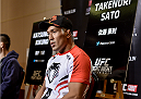 TOKYO, JAPAN - SEPTEMBER 17:  Takenori Sato interacts with media during the UFC Ultimate Media Day at the Hilton Tokyo on September 17, 2014 in Tokyo, Japan.  (Photo by Keith Tsuji/Zuffa LLC/Zuffa LLC via Getty Images)