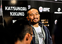 TOKYO, JAPAN - SEPTEMBER 17:  Katsunori Kikuno interacts with media during the UFC Ultimate Media Day at the Hilton Tokyo on September 17, 2014 in Tokyo, Japan.  (Photo by Keith Tsuji/Zuffa LLC/Zuffa LLC via Getty Images)