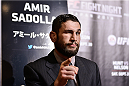 TOKYO, JAPAN - SEPTEMBER 17:  Amir Sadollah interacts with media during the UFC Ultimate Media Day at the Hilton Tokyo on September 17, 2014 in Tokyo, Japan.  (Photo by Keith Tsuji/Zuffa LLC/Zuffa LLC via Getty Images)