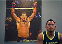 LAS VEGAS, NV - JULY 10:  Team Pettis fighter  before facing team Melendez fighter during filming of season twenty of The Ultimate Fighter on July 10, 2014 in Las Vegas, Nevada. (Photo by Brandon Magnus/Zuffa LLC/Zuffa LLC via Getty Images) *** Local Caption ***