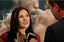 LAS VEGAS, NV - SEPTEMBER 25:  Cat Zingano interacts with media during the UFC 178 Ultimate Media Day at the MGM Grand Hotel/Casino on September 25, 2014 in Las Vegas, Nevada. (Photo by Josh Hedges/Zuffa LLC/Zuffa LLC via Getty Images)