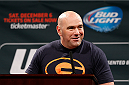 LAS VEGAS, NV - SEPTEMBER 26: UFC President Dana White interacts with media and fans during the UFC 181 press conference at the MGM Grand Conference Center on September 26, 2014 in Las Vegas, Nevada. (Photo by Josh Hedges/Zuffa LLC/Zuffa LLC via Getty Images)