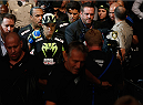 LAS VEGAS, NV - SEPTEMBER 27:  Amanda Nunes enters the arena for her fight with Cat Zingano in their women's bantamweight fight during the UFC 178 event inside the MGM Grand Garden Arena on September 27, 2014 in Las Vegas, Nevada.  (Photo by Josh Hedges/Zuffa LLC/Zuffa LLC via Getty Images)