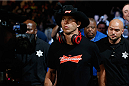LAS VEGAS, NV - SEPTEMBER 27:  Donald Cerrone enters the arena for his lightweight fight with Eddie Alvarez during the UFC 178 event inside the MGM Grand Garden Arena on September 27, 2014 in Las Vegas, Nevada.  (Photo by Josh Hedges/Zuffa LLC/Zuffa LLC via Getty Images)