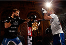 STOCKHOLM, SWEDEN - OCTOBER 01:  Tor Troeng of Sweden holds an open training session for media and fans at the Grand Hotel on October 1, 2014 in Stockholm, Sweden. (Photo by Josh Hedges/Zuffa LLC/Zuffa LLC via Getty Images)
