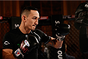 STOCKHOLM, SWEDEN - OCTOBER 01:  Max Holloway holds an open training session for media and fans at the Grand Hotel on October 1, 2014 in Stockholm, Sweden. (Photo by Josh Hedges/Zuffa LLC/Zuffa LLC via Getty Images)