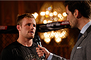 STOCKHOLM, SWEDEN - OCTOBER 01:  Gunnar Nelson of Iceland holds an open training session for media and fans at the Grand Hotel on October 1, 2014 in Stockholm, Sweden. (Photo by Josh Hedges/Zuffa LLC/Zuffa LLC via Getty Images)