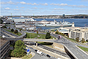 HALIFAX, NS - OCTOBER 2:  A general view of the harbor during the UFC Fight Night Ultimate Media Day on October 2, 2014 in Halifax, Nova Scotia, Canada. (Photo by Jeff Bottari/Zuffa LLC/Zuffa LLC via Getty Images)