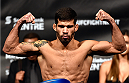 HALIFAX, NS - OCTOBER 3:  Raphael Assuncao of Brazil steps on the scale during the UFC Fight Night weigh-in at the Scotiabank Centre on October 3, 2014 in Halifax, Nova Scotia, Canada. (Photo by Jeff Bottari/Zuffa LLC/Zuffa LLC via Getty Images)