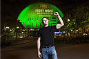 STOCKHOLM, SWEDEN - OCTOBER 1: Forrest Griffin poses in front of the Globe Arena on October 1, 2014 in Stockholm, Sweden. (Photo by Joel Marklund/Zuffa LLC via Getty Images)