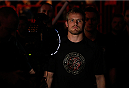 STOCKHOLM, SWEDEN - OCTOBER 04:  Gunnar Nelson of Iceland enters the arena before his welterweight bout against Rick Story at the Ericsson Globe Arena on October 4, 2014 in Stockholm, Sweden.  (Photo by Josh Hedges/Zuffa LLC/Zuffa LLC)