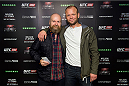 STOCKHOLM, SWEDEN - OCTOBER 4: Swedish musician Alexander Bard and Fredric Jacobson at the UFC Fight Night at the Globe Arena on October 4, 2014 in Stockholm, Sweden. (Photo by Joel Marklund/Zuffa LLC via Getty Images)