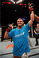 HALIFAX, NS - OCTOBER 4:  Daron Cruickshank celebrates after defeating Anthony Njokuani in their lightweight bout at the Scotiabank Centre on October 4, 2014 in Halifax, Nova Scotia, Canada. (Photo by Nick Laham/Zuffa LLC/Zuffa LLC via Getty Images)