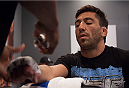 LAS VEGAS, NV - JUNE 10:  Team Werdum fighter Guido Cannetti gets his hands wrapped before facing team Velasquez fighter Marco Beltran in their preliminary fight during filming of The Ultimate Fighter Latin America on June 10, 2014 in Las Vegas, Nevada. (Photo by Brandon Magnus/Zuffa LLC/Zuffa LLC via Getty Images) *** Local Caption *** Guido Cannetti