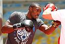 RIO DE JANEIRO, BRAZIL - OCTOBER 23:  Phil Davis holds an open training session for media inside Maracanã Stadium on October 23, 2014 in Rio de Janeiro, Brazil. (Photo by Josh Hedges/Zuffa LLC/Zuffa LLC via Getty Images)