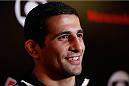 RIO DE JANEIRO, BRAZIL - OCTOBER 23:  Beneil Dariush interacts with media during the UFC 179 Ultimate Media Day at the Pestana Rio Atlantica Hotel on October 23, 2014 in Rio de Janeiro, Brazil. (Photo by Josh Hedges/Zuffa LLC/Zuffa LLC via Getty Images)