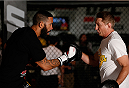 SYDNEY, AUSTRALIA - NOVEMBER 05:  Dylan Andrews of New Zealand holds an open training session for media at the UFC Gym Sydney on November 5, 2014 in Sydney, Australia. (Photo by Josh Hedges/Zuffa LLC/Zuffa LLC via Getty Images)
