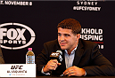 SYDNEY, AUSTRALIA - NOVEMBER 06:  Al Iaquinta of the United States interacts with media during the UFC Fight Night press conference at the Opera Point Marquee on November 6, 2014 in Sydney, Australia. (Photo by Josh Hedges/Zuffa LLC/Zuffa LLC via Getty Images)