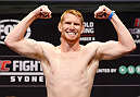 SYDNEY, AUSTRALIA - NOVEMBER 07:  Sam Alvey of the United States weighs in during the UFC Fight Night weigh-in at the Allphones Arena on November 7, 2014 in Sydney, Australia. (Photo by Josh Hedges/Zuffa LLC/Zuffa LLC via Getty Images)