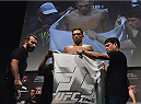 UBERLANDIA, BRAZIL - NOVEMBER 07:  UFC fighter Claudio Silva weighs in during the UFC Fight Night weigh-in at Sabiazinho Gymnasium on November 7, 2014 in Uberlandia, Brazil.  (Photo by Buda Mendes/Zuffa LLC/Zuffa LLC via Getty Images)