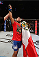 MEXICO CITY, MEXICO - NOVEMBER 15:  Kelvin Gastelum celebrates his submission victory over Jake Ellenberger in their welterweight bout during the UFC 180 event at Arena Ciudad de Mexico on November 15, 2014 in Mexico City, Mexico.  (Photo by Josh Hedges/Zuffa LLC/Zuffa LLC via Getty Images)
