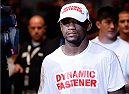 AUSTIN, TX - NOVEMBER 22:  Yves Edwards of the Bahamas enters the arena before his lightweight bout against Akbarh Arreola of Mexico during the UFC Fight Night event at The Frank Erwin Center on November 22, 2014 in Austin, Texas.  (Photo by Josh Hedges/Zuffa LLC/Zuffa LLC via Getty Images)