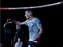 AUSTIN, TX - NOVEMBER 22:  Luke Barnatt of England enters the arena before his middleweight bout against Roger Narvaez during the UFC Fight Night event at The Frank Erwin Center on November 22, 2014 in Austin, Texas.  (Photo by Josh Hedges/Zuffa LLC/Zuffa LLC via Getty Images)