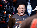 AUSTIN, TX - NOVEMBER 22:  Joseph Benavidez enters the arena before his flyweight bout against Dustin Ortiz during the UFC Fight Night event at The Frank Erwin Center on November 22, 2014 in Austin, Texas.  (Photo by Josh Hedges/Zuffa LLC/Zuffa LLC via Getty Images)