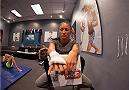 LAS VEGAS, NV - AUGUST 6:  Team Pettis fighter Carla Esparza gets her hands wrapped before facing team Pettis fighter Tecia Torres in the quarterfinals during filming of season twenty of The Ultimate Fighter on August 6, 2014 in Las Vegas, Nevada. (Photo by Brandon Magnus/Zuffa LLC/Zuffa LLC via Getty Images) *** Local Caption *** Carla Esparza