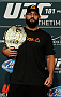 LAS VEGAS - DECEMBER 04:  UFC welterweight champion Johny Hendricks poses for photos during the UFC 181 Ultimate Media Day at the MGM Grand Hotel/Casino on December 4, 2014 in Las Vegas, Nevada. (Photo by Josh Hedges/Zuffa LLC/Zuffa LLC via Getty Images)