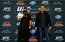 LAS VEGAS - DECEMBER 04:  (L-R) Opponents Johny Hendricks and Robbie Lawler pose for photos during the UFC 181 Ultimate Media Day at the MGM Grand Hotel/Casino on December 4, 2014 in Las Vegas, Nevada. (Photo by Josh Hedges/Zuffa LLC/Zuffa LLC via Getty Images)