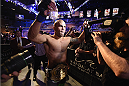 LAS VEGAS, NV - DECEMBER 06:  Robbie Lawler exits the Octagon after defeating Johny Hendricks in their UFC welterweight championship bout during the UFC 181 event inside the Mandalay Bay Events Center on December 6, 2014 in Las Vegas, Nevada.  (Photo by Robert Laberge/Zuffa LLC/Zuffa LLC via Getty Images)