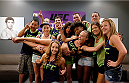 LAS VEGAS, NV - AUGUST 14:  Team Melendez poses for a photo during filming of season twenty of The Ultimate Fighter on August 14, 2014 in Las Vegas, Nevada. (Photo by Brandon Magnus/Zuffa LLC/Zuffa LLC via Getty Images) *** Local Caption ***