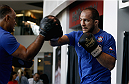 PHOENIX, AZ - DECEMBER 10:  Number 2-ranked UFC heavyweight contender Junior Dos Santos throws a punch during UFC Fight Night open workouts at U.S. Airways Center on December 10, 2014 in Phoenix, Arizona.  (Photo by Ralph Freso/Zuffa LLC/Zuffa LLC via Getty Images)