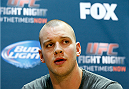 PHOENIX, AZ - DECEMBER 11:  Stefan Struve of the Netherlands interacts with media during the UFC Ultimate Media Day at the US Airways Center on December 11, 2014 in Phoenix, Arizona. (Photo by Josh Hedges/Zuffa LLC/Zuffa LLC via Getty Images)