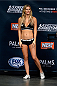 LAS VEGAS, NEVADA - DECEMBER 11:  UFC Octagon Girl Chrissy Blair stands onstage during The Ultimate Fighter Finale weigh-ins at the Palms Casino Resort on December 11, 2014 in Las Vegas, Nevada. (Photo by Jeff Bottari/Zuffa LLC/Zuffa LLC via Getty Images)