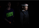 LAS VEGAS, NEVADA - DECEMBER 12:  Angela Magana prepares to enter the Octagon before facing Tecia Torres in their strawweight fight during The Ultimate Fighter Finale event inside the Pearl concert theater at the Palms Casino Resort on December 12, 2014 in Las Vegas, Nevada. (Photo by Jeff Bottari/Zuffa LLC/Zuffa LLC via Getty Images)
