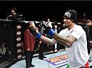 LAS VEGAS, NEVADA - DECEMBER 12: Yancy Medeiros celebrates his submission victory over Joe Proctor in their lightweight fight during The Ultimate Fighter Finale event inside the Pearl concert theater at the Palms Casino Resort on December 12, 2014 in Las Vegas, Nevada. (Photo by Jeff Bottari/Zuffa LLC/Zuffa LLC via Getty Images)