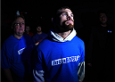 LAS VEGAS, NEVADA - DECEMBER 12: Daron Cruickshank prepares to enter the Octagon before facing KJ Noons in their lightweight fight during The Ultimate Fighter Finale event inside the Pearl concert theater at the Palms Casino Resort on December 12, 2014 in Las Vegas, Nevada. (Photo by Jeff Bottari/Zuffa LLC/Zuffa LLC via Getty Images)