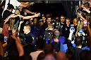 PHOENIX, AZ - DECEMBER 13:  Alistair Overeem of the Netherlands enters the arena before facing Stefan Struve of the Netherlands in their heavyweight fight during the UFC Fight Night event at the U.S. Airways Center on December 13, 2014 in Phoenix, Arizona.  (Photo by Josh Hedges/Zuffa LLC/Zuffa LLC via Getty Images)