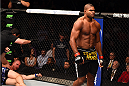 PHOENIX, AZ - DECEMBER 13:  (R-L) Alistair Overeem of the Netherlands walks away from Stefan Struve of the Netherlands after defeating him in their heavyweight fight during the UFC Fight Night event at the U.S. Airways Center on December 13, 2014 in Phoenix, Arizona.  (Photo by Josh Hedges/Zuffa LLC/Zuffa LLC via Getty Images)