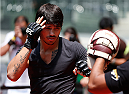 SAO PAULO, BRAZIL - DECEMBER 18:  Erick Silva of Brazil holds an open training session for fans and media at Allianz Parque on December 18, 2014 in Sao Paulo, Brazil. (Photo by Josh Hedges/Zuffa LLC/Zuffa LLC via Getty Images)