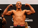 BARUERI, BRAZIL - DECEMBER 19:  Marcos Rogerio de Lima of Brazil poses on the scale after weighing in during the UFC weigh-in event inside the Ginasio Jose Correa on December 19, 2014 in Barueri, Brazil. (Photo by Josh Hedges/Zuffa LLC/Zuffa LLC via Getty Images)