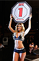 BARUERI, BRAZIL - DECEMBER 20:  UFC Octagon Girl Jhenny Andrade introduces a round during the UFC Fight Night event inside the Ginasio Jose Correa on December 20, 2014 in Barueri, Brazil. (Photo by Josh Hedges/Zuffa LLC/Zuffa LLC via Getty Images)