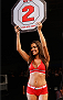 BARUERI, BRAZIL - DECEMBER 20:  UFC Octagon Girl Luciana Andrade introduces a round during the UFC Fight Night event inside the Ginasio Jose Correa on December 20, 2014 in Barueri, Brazil. (Photo by Josh Hedges/Zuffa LLC/Zuffa LLC via Getty Images)