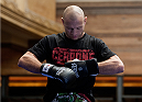 LAS VEGAS, NEVADA - DECEMBER 31:  Donald Cerrone prepares to hit pads during the UFC 182 Open Workouts at the MGM Grand Hotel and Casino on December 31, 2014 in Las Vegas, Nevada. (Photo by Brandon Magnus/Zuffa LLC/Zuffa LLC via Getty Images)