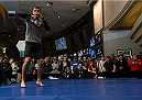 LAS VEGAS, NEVADA - DECEMBER 31:  Myles Jury warms up during the UFC 182 Open Workouts at the MGM Grand Hotel and Casino on December 31, 2014 in Las Vegas, Nevada. (Photo by Brandon Magnus/Zuffa LLC/Zuffa LLC via Getty Images)