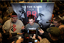 LAS VEGAS, NEVADA - DECEMBER 31:  Myles Jury talks to the media during the UFC 182 Open Workouts at the MGM Grand Hotel and Casino on December 31, 2014 in Las Vegas, Nevada. (Photo by Brandon Magnus/Zuffa LLC/Zuffa LLC via Getty Images)
