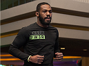 LAS VEGAS, NEVADA - DECEMBER 31:  Jon Jones warms up during the UFC 182 Open Workouts at the MGM Grand Hotel and Casino on December 31, 2014 in Las Vegas, Nevada. (Photo by Brandon Magnus/Zuffa LLC/Zuffa LLC via Getty Images)